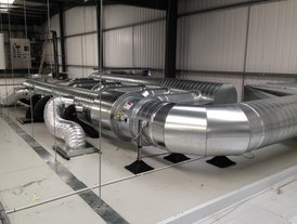 Stainless steel kitchen extraction ductwork