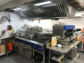 Stainless steel Range and Extraction and Fresh Air unit