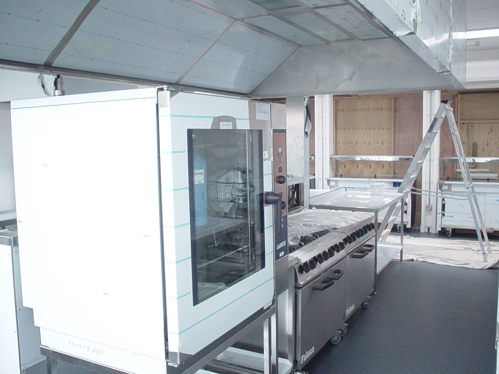 Full kitchen installation in progress for Worcester Council at Northwick Primary School.